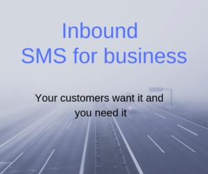 Inbound SMS for business